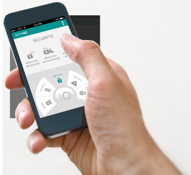 Domotique - Smartphone - Maison connectée
